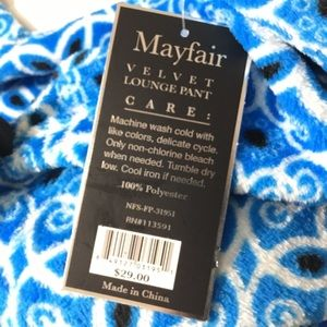 Intimates & Sleepwear - Mayfair Velvet Lounge Pajama Pant Women Size L